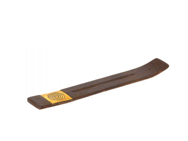 Holzhalter mit Spiralmotiv, braun