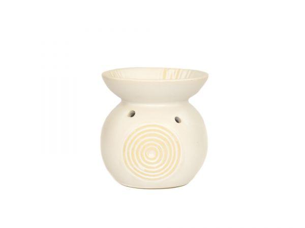 Duftlampe Relief, Keramik, klein, weiß