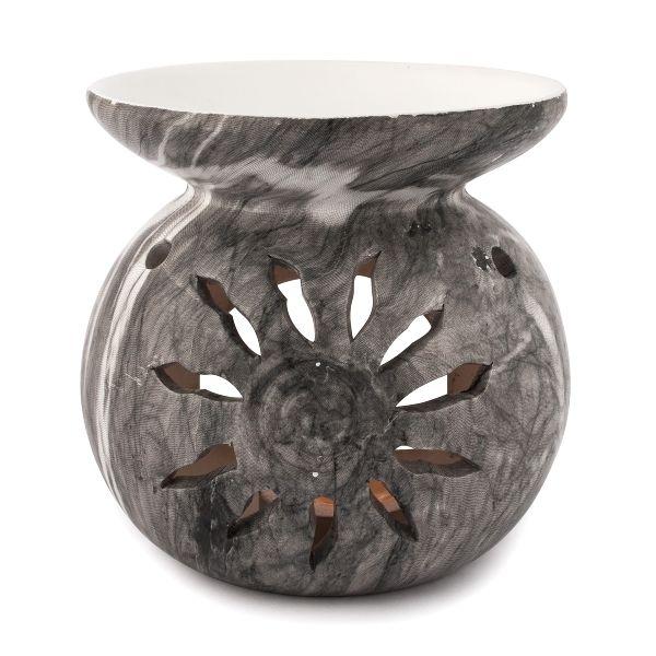 Marmor, Duftlampe - Keramik, grau