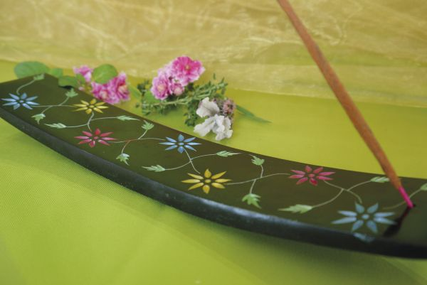 Räucherstäbchenhalter Blume aus Speckstein
