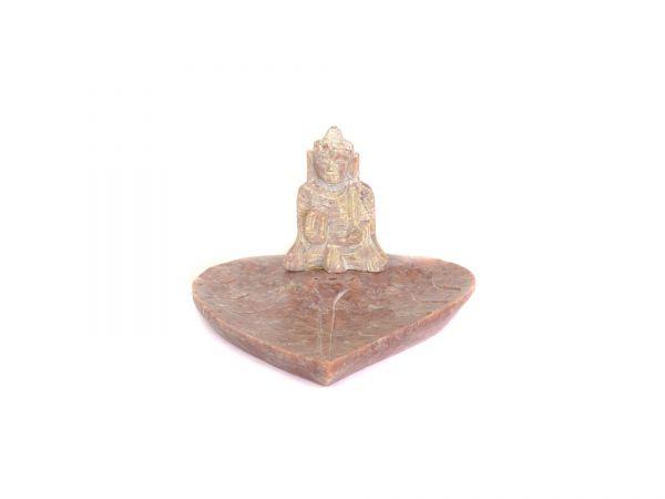 Buddha auf Blatt, Speckstein