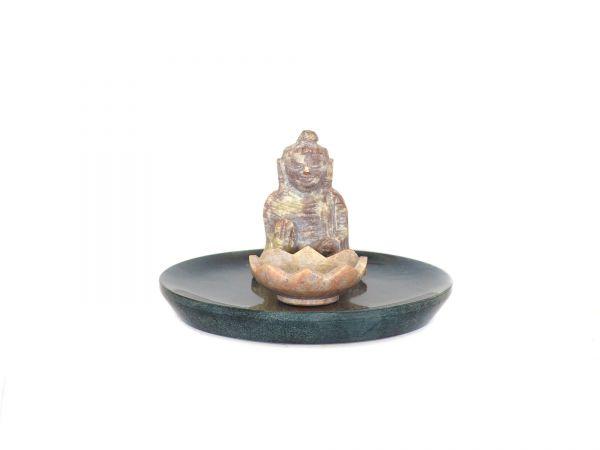Buddha mit Lotus, Speckstein