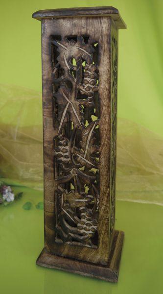 Shrinagar, Räucherturm aus Mangoholz, braun