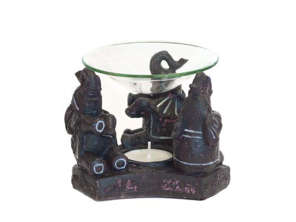Elefanten, Aromalampe - Polyresin/Glas